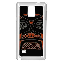 Traditional Northwest Coast Native Art Samsung Galaxy Note 4 Case (white)