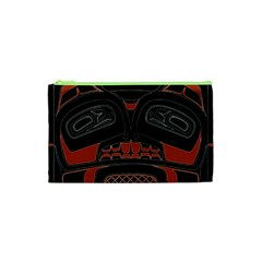 Traditional Northwest Coast Native Art Cosmetic Bag (xs)