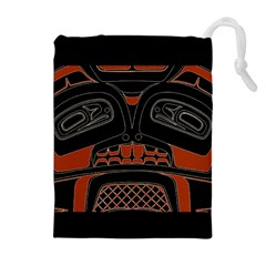 Traditional Northwest Coast Native Art Drawstring Pouches (extra Large)