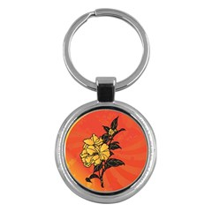 Vector Asian Flowers Key Chains (round)