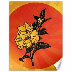 Vector Asian Flowers Canvas 18  X 24