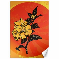 Vector Asian Flowers Canvas 20  X 30
