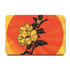 Vector Asian Flowers Small Doormat