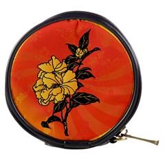 Vector Asian Flowers Mini Makeup Bags