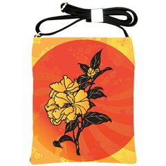 Vector Asian Flowers Shoulder Sling Bags by BangZart