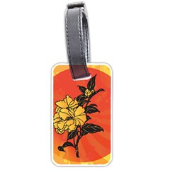 Vector Asian Flowers Luggage Tags (two Sides)