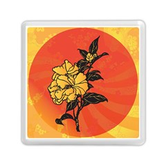 Vector Asian Flowers Memory Card Reader (square)