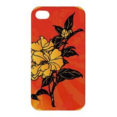 Vector Asian Flowers Apple Iphone 4/4s Hardshell Case by BangZart