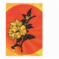 Vector Asian Flowers Small Garden Flag (two Sides) by BangZart