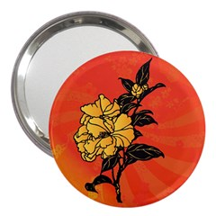 Vector Asian Flowers 3  Handbag Mirrors