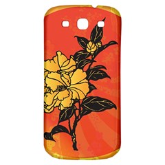 Vector Asian Flowers Samsung Galaxy S3 S Iii Classic Hardshell Back Case