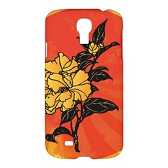 Vector Asian Flowers Samsung Galaxy S4 I9500/i9505 Hardshell Case