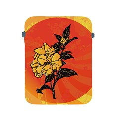 Vector Asian Flowers Apple Ipad 2/3/4 Protective Soft Cases
