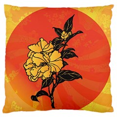 Vector Asian Flowers Large Flano Cushion Case (two Sides)
