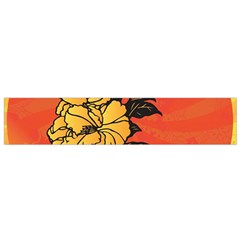 Vector Asian Flowers Flano Scarf (small)