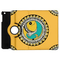 Madhubani Fish Indian Ethnic Pattern Apple Ipad Mini Flip 360 Case