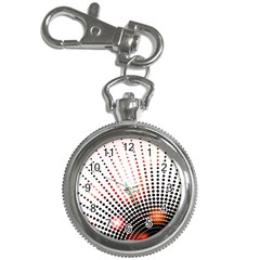 Radial Dotted Lights Key Chain Watches