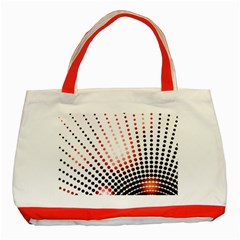 Radial Dotted Lights Classic Tote Bag (red)