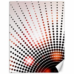 Radial Dotted Lights Canvas 12  X 16