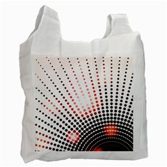 Radial Dotted Lights Recycle Bag (two Side)
