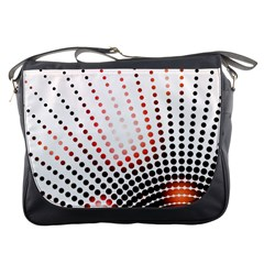Radial Dotted Lights Messenger Bags