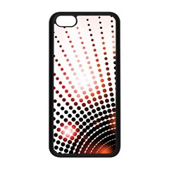 Radial Dotted Lights Apple Iphone 5c Seamless Case (black) by BangZart