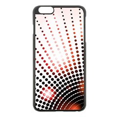 Radial Dotted Lights Apple Iphone 6 Plus/6s Plus Black Enamel Case