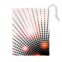 Radial Dotted Lights Drawstring Pouches (extra Large)