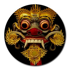 Bali Mask Round Mousepads by BangZart