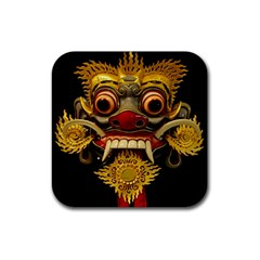 Bali Mask Rubber Coaster (square)