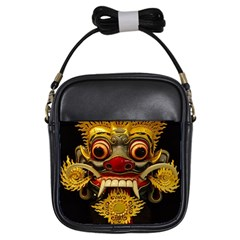 Bali Mask Girls Sling Bags by BangZart