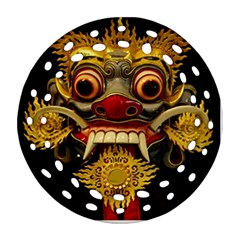 Bali Mask Ornament (round Filigree) by BangZart