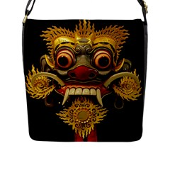 Bali Mask Flap Messenger Bag (l)
