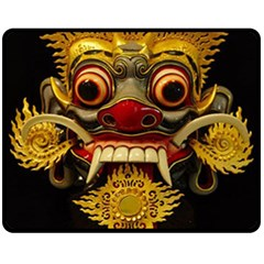 Bali Mask Double Sided Fleece Blanket (medium)