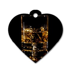Drink Good Whiskey Dog Tag Heart (two Sides)