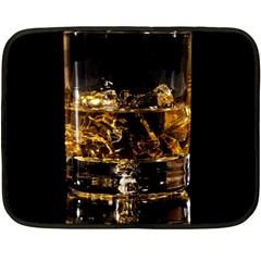 Drink Good Whiskey Fleece Blanket (mini)