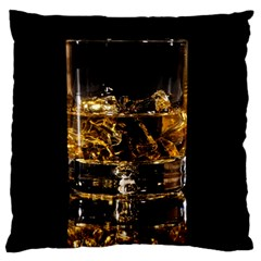 Drink Good Whiskey Large Flano Cushion Case (two Sides)