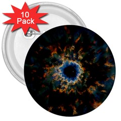 Crazy  Giant Galaxy Nebula 3  Buttons (10 Pack)