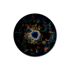 Crazy  Giant Galaxy Nebula Rubber Round Coaster (4 Pack)