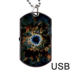 Crazy  Giant Galaxy Nebula Dog Tag Usb Flash (one Side)