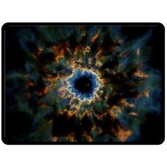 Crazy  Giant Galaxy Nebula Double Sided Fleece Blanket (large)  by BangZart