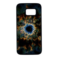 Crazy  Giant Galaxy Nebula Samsung Galaxy S7 Black Seamless Case