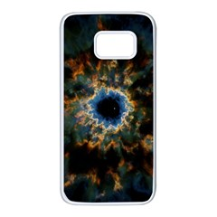 Crazy  Giant Galaxy Nebula Samsung Galaxy S7 White Seamless Case