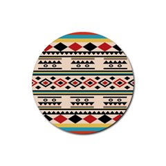 Tribal Pattern Rubber Coaster (round)