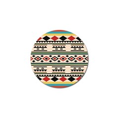Tribal Pattern Golf Ball Marker (4 Pack)