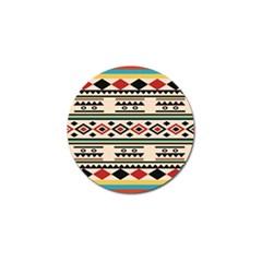 Tribal Pattern Golf Ball Marker (10 Pack)