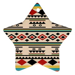 Tribal Pattern Star Ornament (two Sides)
