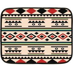 Tribal Pattern Double Sided Fleece Blanket (mini)