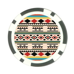 Tribal Pattern Poker Chip Card Guard (10 Pack)