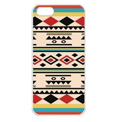 Tribal Pattern Apple Iphone 5 Seamless Case (white) by BangZart
